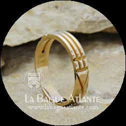 Bague Atlante (Rê) *Classique ÉTROITE en Bronze Massif 100%