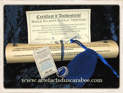 Certificat d'Authenticité des Créations Atlantes